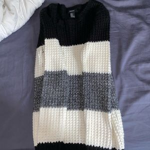 Cozy sweater forever 21 stripes